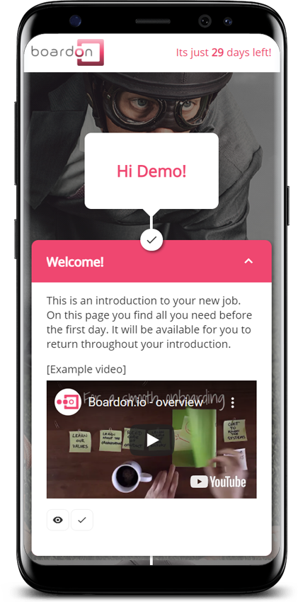 The Boardon Portal for new Employees